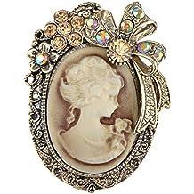 Alilang Broche de Estilo Antiguo de imitación del camafeo Dama de Arco de la Cinta …
