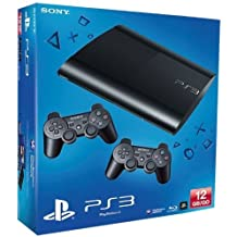 PS3 - Konsole Slim 12GB (SuperSlim) inkl. 2 Dualshock-Controller