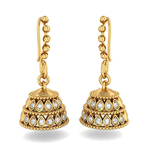 BlueStone 14K Yellow Gold and Diamond Drop Earrings