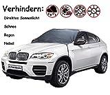 Kricson Eisschutzfolie für VW Windschutzscheibe Auto UV Sonnenschutz Frontscheibe Außen Groß für Winter Oder Sommer (150 * 125 * 215cm)