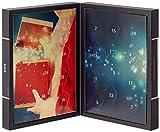 Hallingers Adventskalender edler Pralinenkalender Stern Design Karton, 1er Pack (1 x 300 g)