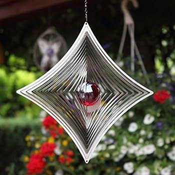 Hamburg trade windspiel triangle mobile aus edelstahl mit for Windspiel edelstahl garten