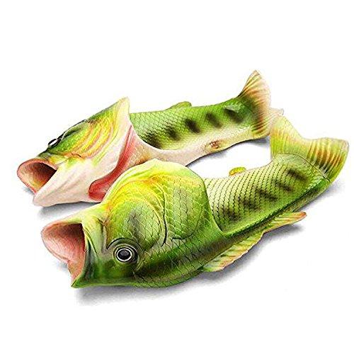 esondere Fisch Strand Slippers Flip Flops Anti-Rutsch Hausschuhe (Fish Schuhe)