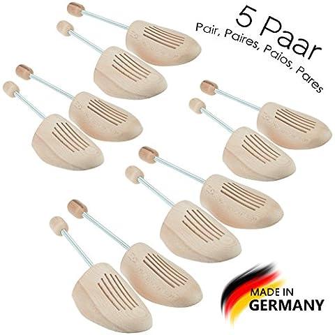 Max Basic Premium hormas en madera de haya, by MTS shoecare (Set 5 Pares)