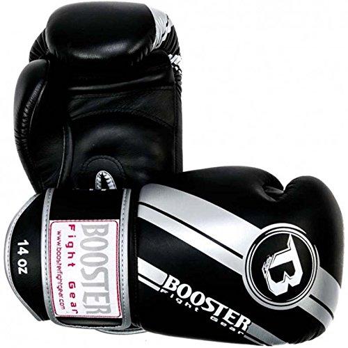 Booster Boxhandschuhe, Leder, V3, Silver Foil, Boxing Gloves, Leather, Muay Thai Size 16 Oz