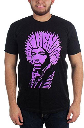 Jimi Hendrix - - Type de cheveux T-shirt pour hommes Black
