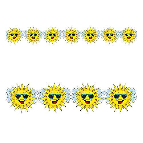 Für Traumhafte Kostüm Einfach Figur Erwachsene - Widmann 2156S Sonnengirlande, Unisex- Erwachsene, Gelb, One Size