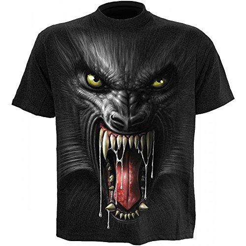 Spiral - Lycan Tribe T-Shirt mit Rückendruck Schwarz
