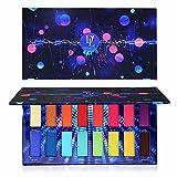 Veganen Lidschattenpalette, Lidschatten-Make-Up-Palette von DE'LANCI Cosmetics mit 16 Lidschatten Pro Eye shadow
