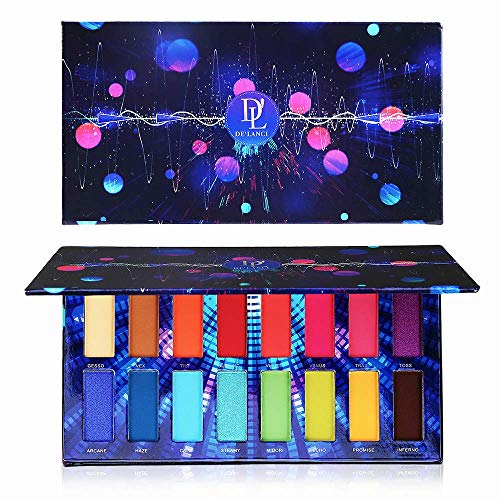 Veganen Lidschattenpalette, Lidschatten-Make-Up-Palette von DE\'LANCI Cosmetics mit 16 Lidschatten Pro Eye shadow