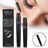 3D Fiber, 3d Fiber Lashes, 3D Mascara, Rímel, 3D Fiber lashes Mascara, 2pcs/set Black Mascara + 3d Fiber Makeup Higher Quality Fiber Mascara Amazing & Fabulous Eyelash Extension Set 100% Natural