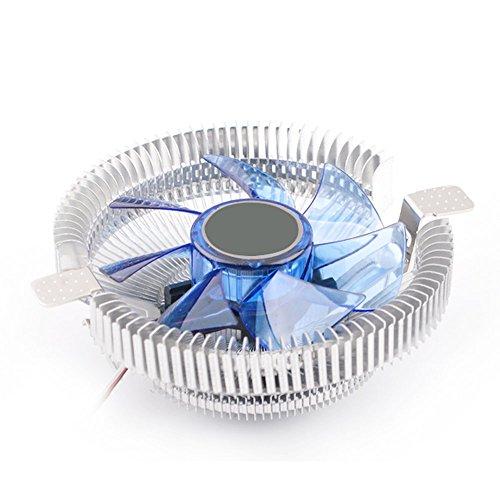 Vococal® 9cm Mini Ruhige 4 Pin Stecker PC-Komponenten Kühlung Lüfter - CPU Kühlkörper Prozessorlüfter mit Licht für Intel AMD