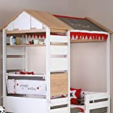 Möbel Komplettset Kinderzimmer Jugendzimmer Hausbett Kinderbett Treehouse Baumhütte Spielbett massiv, Komponenten:Montosori Kombi-Bett