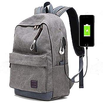 3b9828fcf1 meridy Zaino per Laptop con Porta di Ricarica USB,Daypacks Casual, Zaino da Viaggio  di Moda,Zaino per Studenti Universitari,Borsa da Alpinismo,Adatta Laptop ...