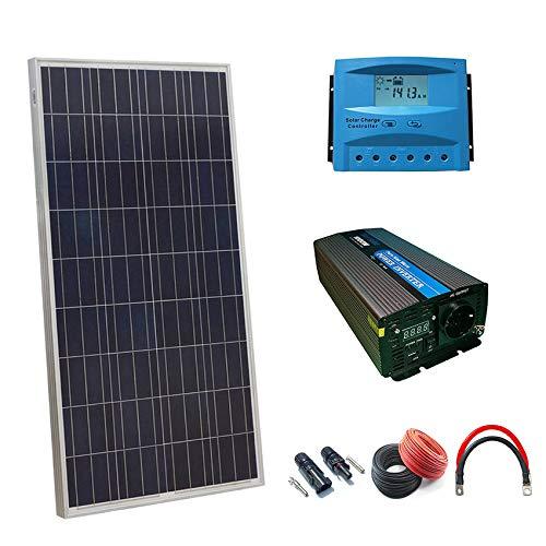 2 Panel solar Polycristalline 150W.. 1 Controlador cargas wellsee 40A 12v/24v.. 1 Inversor Onda Pura 12v 3000w/6000w.