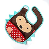 Baby Oodles Cloth Bib With Pocket Brown ...
