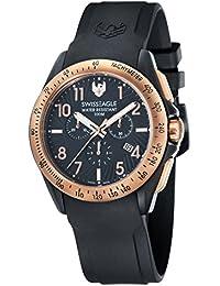 Swiss Eagle SE-9061-05 - Reloj , correa de silicona, color negro