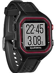 Garmin Forerunner 25 - Montre de Running Connectée avec Ceinture Cardio-fréquencemètre - Noir et Rouge (Large)