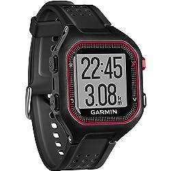 Garmin Forerunner 25 - Reloj deportivo, color negro y rojo, talla L