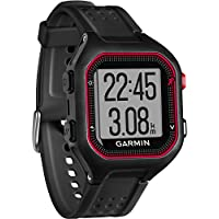 Garmin 010-01353-10 Forerunner 25 Large GPS Running Watch, Black/Red
