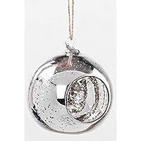 4x Argento Mercurio Vetro da Appendere Palla Candela Tea Light Holder trasparente da giardino,