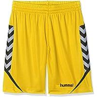 Hummel Niños AUTH. Charge Poly Pantalones Cortos, infantil, color Sports Gelb, tamaño 140-152
