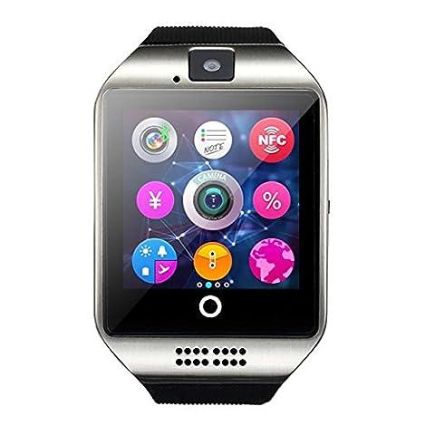 Smartwatch Uhr, DeYoun® Bluetooth Smartwatch Handy Uhr Fitness Tracker Armband Mit Kamera Sim karte / TF karte Slot Kompatibel für Android Samsung Galaxy S6/S5 HTC Sony LG Huawei Nexus IPhone IOS [ Tlweise Fnktionen ]-
