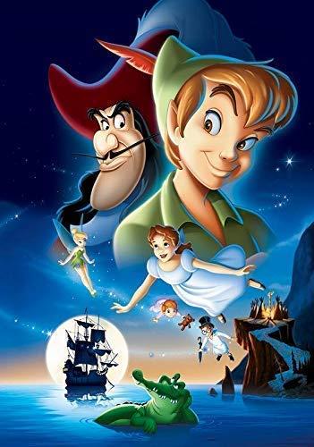 Peter Pan Póster Foto Niños Familia Animación Classis Película Disney...