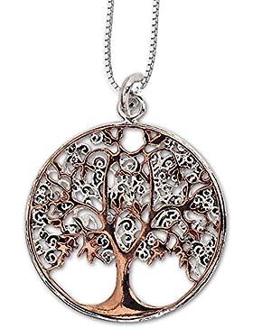 Anhänger Keltischer Lebensbaum Baum des Lebens Weltenbaum Bicolor Bronze Schmuck – Heilung – mit Kette Halskette...