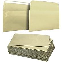 50buste A4–10,8x 15,9cm Square flap Envelopes–foto buste–Buste per inviti di nozze invito–120gsm, oro metallizzato
