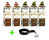 50ml E-Liquid - 5 Flaschen mit je 10ml Liquid für E-Zigaretten - inklusive ein kostenloses Nox24 Halsband (EGO) - ohne Nikotin - Set: (Tobacco)