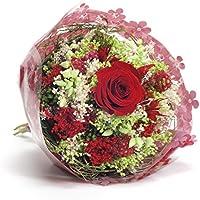 Bouquet Garden-Sanremo flores secas de la Riviera dei Fiori Italia con rosa preservado. (Rojo)