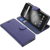 Tasche für Gigaset GS270 / GS270 Plus Book Style blau Schutz Hülle Buch