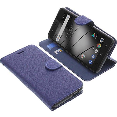 foto-kontor Tasche für Gigaset GS270 / GS270 Plus Book Style blau Schutz Hülle Buch