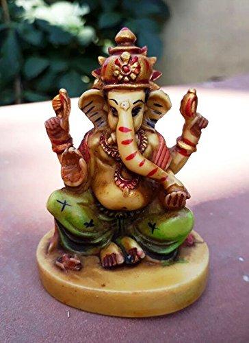 Collectible India Small God Ganesha Car Dashboard Decor Statue | Hindu Idol God Ganesh Ganpati Decor Sculpture | Decorative Gift  available at amazon for Rs.149