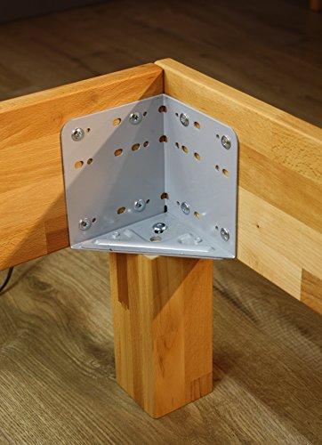 Bett PALMA, Größe 100x200, Buche Massivholz, von MeinMassivholz - Made in Germany, Kostenlose Lieferung zum Wunschtermin - 5