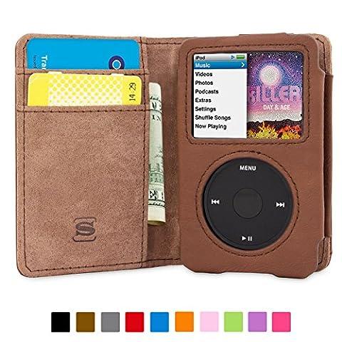 Coque iPod Classic, Snugg Apple iPod Classic Etui à Rabat [Emplacements Pour Cartes] Cuir Portefeuille Housse Désign Exécutif [Garantie à Vie] - Cuir Naturel, Legacy Range