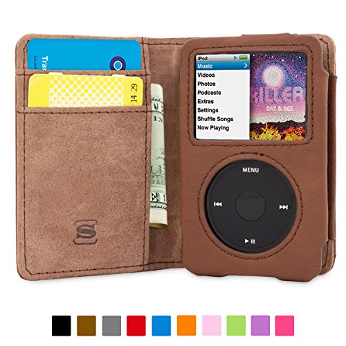 snugg-ipod-classic-case-flip-cover-lifetime-guarantee-brown-leather-for-apple-ipod-classic