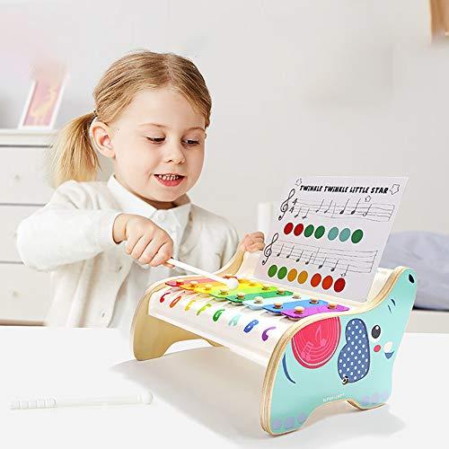 JW-YZWJ Acht-Ton coloriertes Stahlblech Elefant aus Holz Hand Percussion 0-3 Jahre alte Frau Baby-pädagogisches Spielzeug