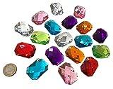 Crystal King - Lot de 600pierres décoratives - Octogonales, colorées et...