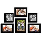 Sifty Collection Family Memory Wall Photo Frame - Set Of 6 Individual Photo Frame (Black)