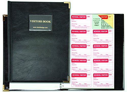 School Visitors Book 300 Inserts With Binder and 10 Badges