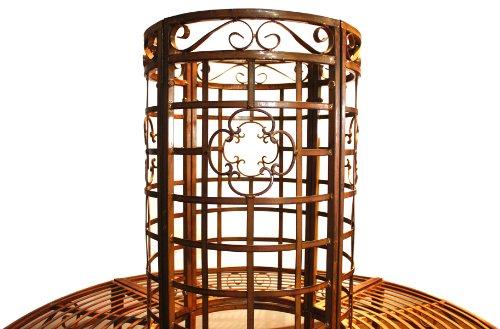 Garden Pleasure 950251 Baumbank aus Metall, pulverbeschichtet in bronzefarbener Rostoptik, rund - 3