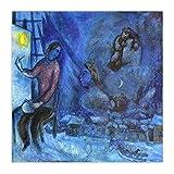 YB Leinwandbild Kunst Wandbilder Poster Quadrat Leinwandbilder Gemälde Marc Chagall Home Decoration 50cm x50cm Kein Rahmen