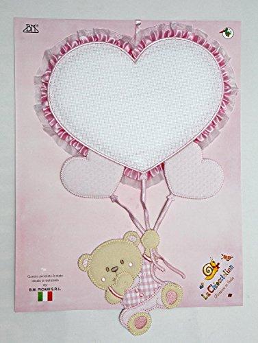 f7122b6180 fiocco nascita palloncino cuore rosa e orsetto da ricamare