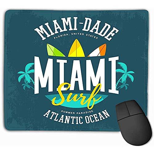 Mausunterlage Wasser bewegt Palmen-Surfbretter-Atlantik-Zeichen-Kleidungs-Aufkleber-amerikanischer Miami-surfender Fahnen-Druck Mousepad wellenartig