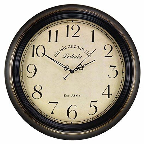 Bonne action Horloge murale Américain Salon Horloge Murale Silencieuse Européenne Fer Horloge Murale Rétro Horloge Romaine Horloge Créative Table Suspendue ( Couleur : A )