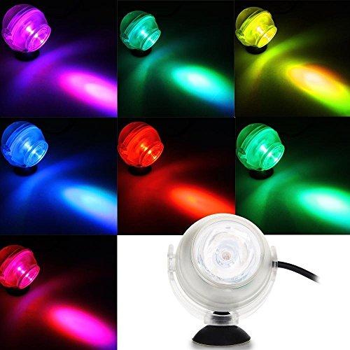 Dekorative Aquarium-Behälter-Lichter IP68 konvexe Linsen-Design-amphibische geführte Licht-Scheinwerfer-Birnen-Lampen-versenkbares Tauchen 7 Farbregenbogen-Symphonie - Konvexe Leuchte
