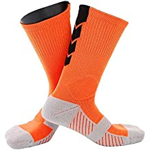 Providethebest 1 par Masculino Deportes al Aire Libre de Baloncesto Inferior Grueso Calcetines Hombres Maratón de