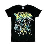 Logoshirt T-Shirt X-Men - Il Gruppo - Maglia Marvel Comics - X-Men - The Group - Maglietta Girocollo Nero - Design Originale Concesso su Licenza, Taglia S